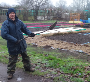 Shed Coordinator Dave takes to the soil!